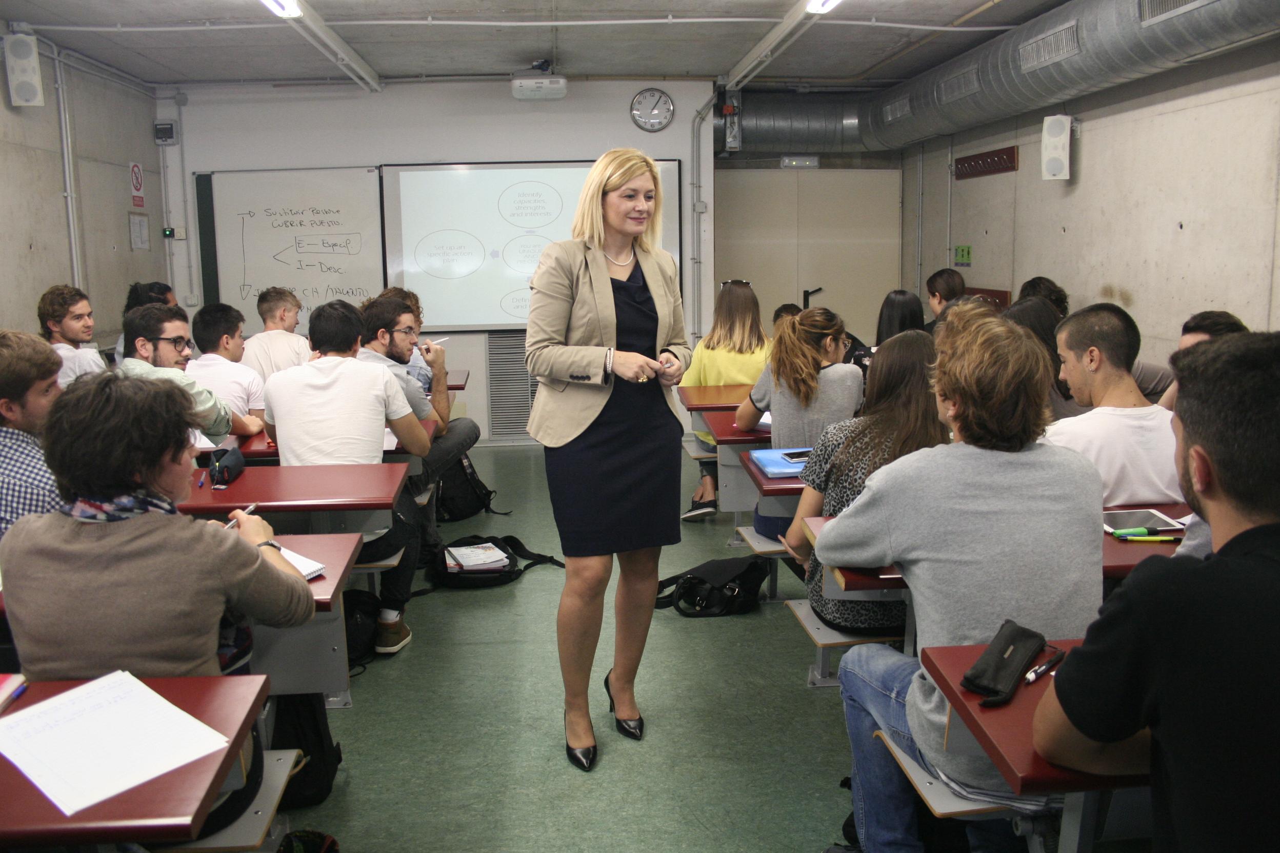 Idoia Campoy en clase Barbara Hernandez